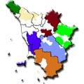 Mappa dei GAL Toscana