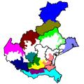 cartina regione Veneto