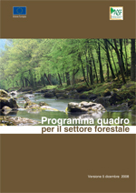Copertina del Programma Quadro per il Settore Forestale